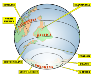 The world 450 million years ago