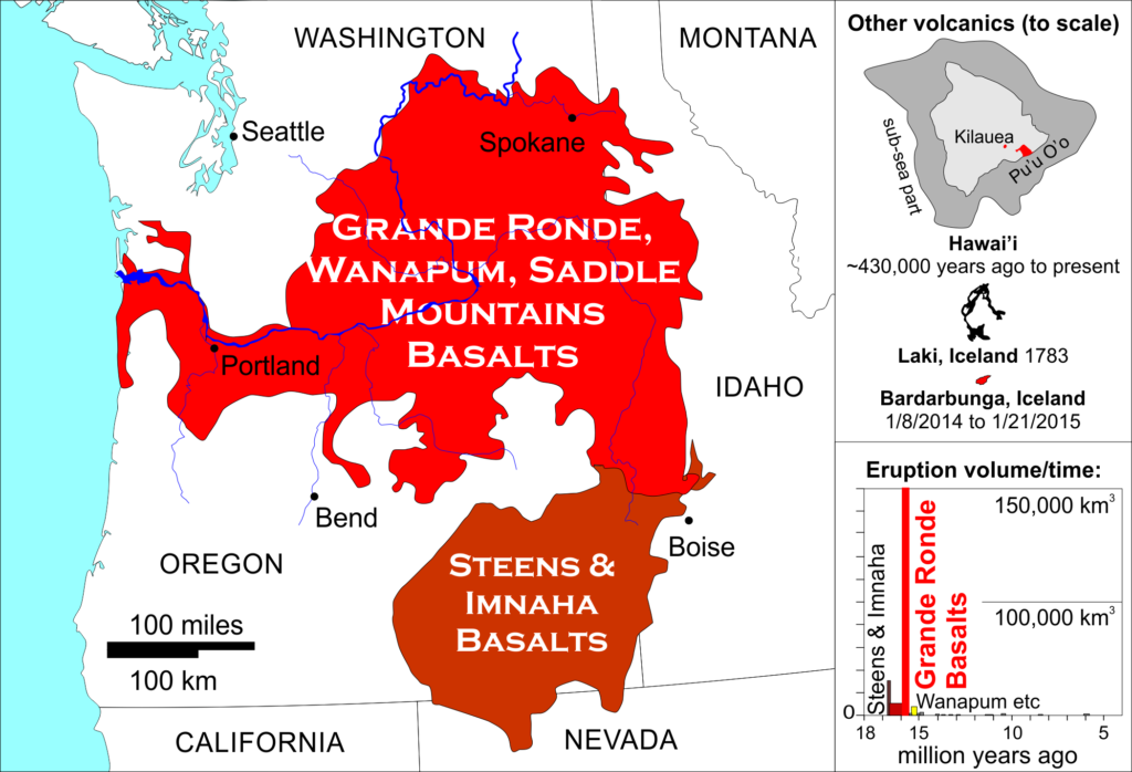 The extent of the Columbia River Basalts