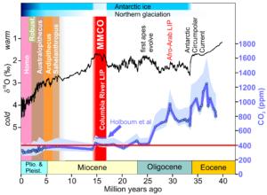 Eocene-Pleistocene CO2 and temps