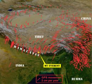 GPS shows plate tectonics happening now
