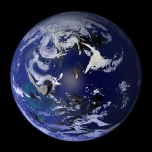 Impression of what the Late Hadean Earth may have looked like
